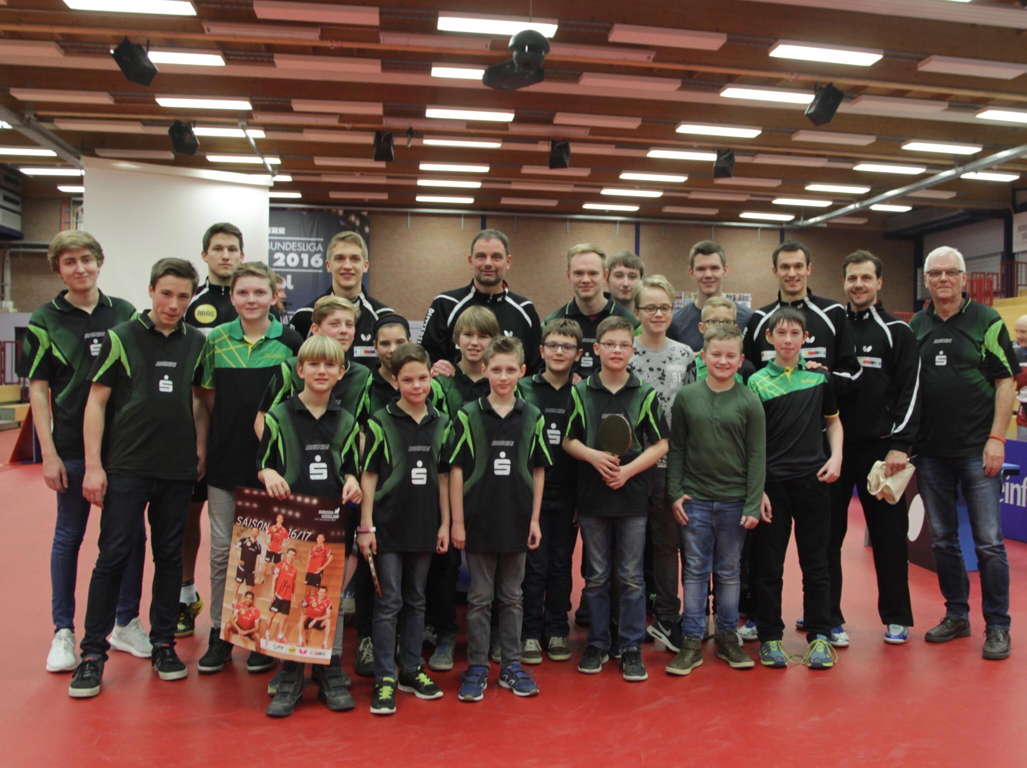 Besuch des Champions-League Achtelfinals in Düsseldorf (Tischtennis)